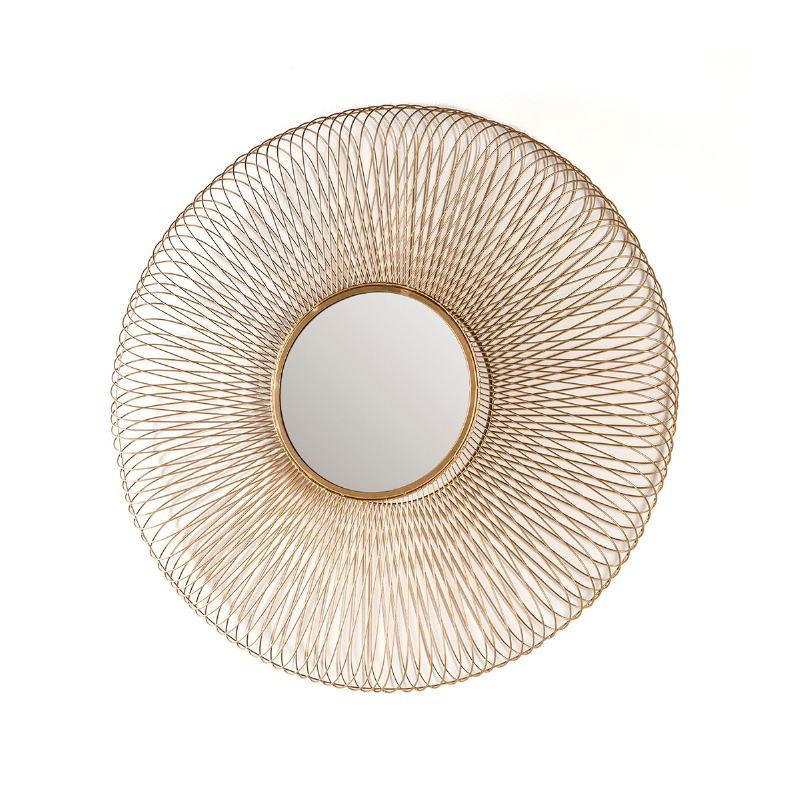 Specchio 79X10X79 Vetro Metallo Dorato - image 51427