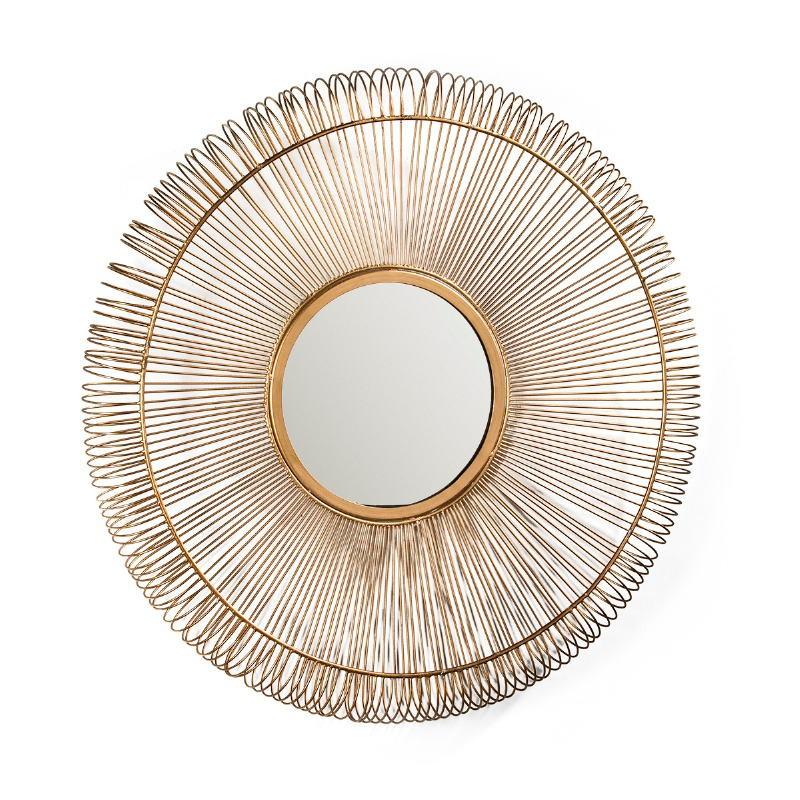 Mirror 76X7X76 Glass Metal Golden - image 51428