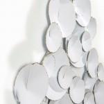 Wall Sculpture 101X9X71 Metal White Golden
