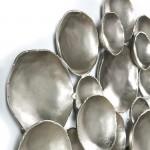 Wandskulptur 114X9X89 Metall Silber