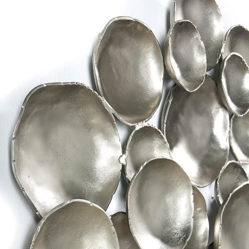 Scultura Da Parete 114X9X89 Metallo Argento - image 51435