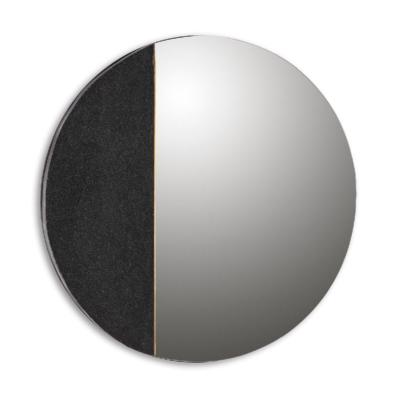 Mirror 88X2X88 Glass Granite Black