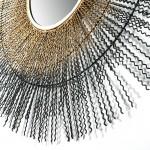 Mirror 96X9X96 Glass Metal Golden Black