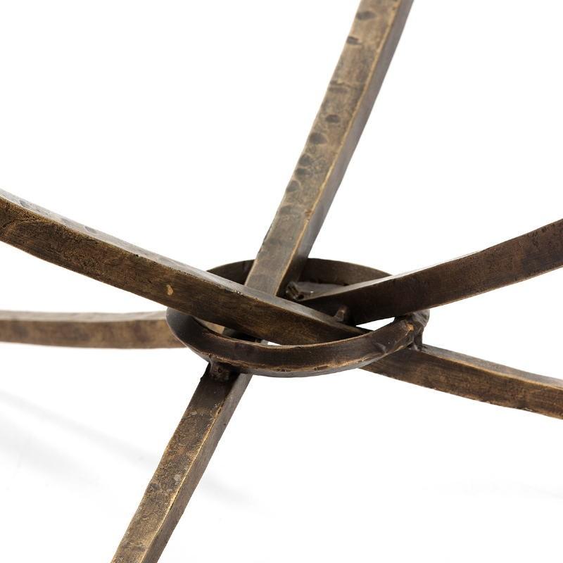 Tavolini Bassi 92X92X47 Vetro Metallo Dorato Antique - image 51469