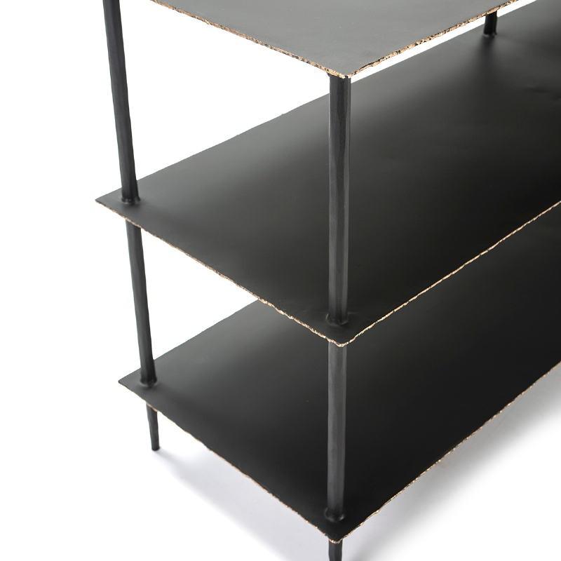 Shelf 152X41X71 Metal Black Golden - image 51486