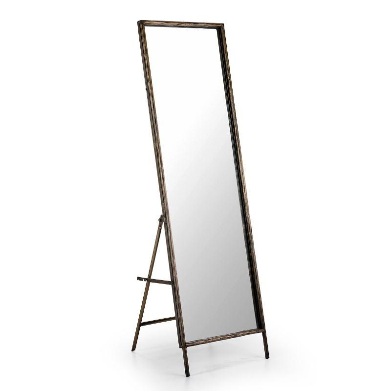 Mirror 50X7 68X170 Glass Metal Golden