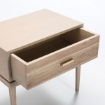 Bedside Table 1 Drawer 60X40X55 Wood Grey