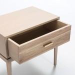 Table de chevet 1 tiroir 60x40x55 Bois Gris