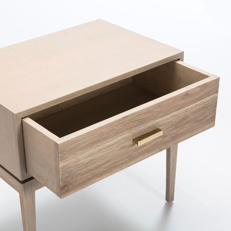 Bedside Table 1 Drawer 60X40X55 Wood Grey - image 51524