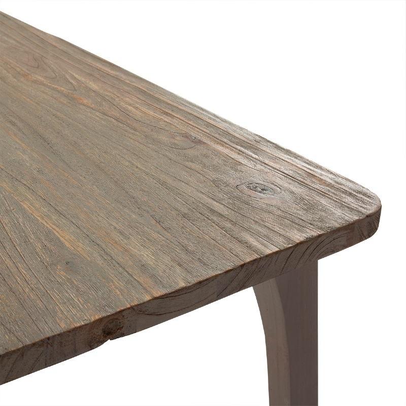 Table à Manger 180x90x76 Bois Gris - image 51527