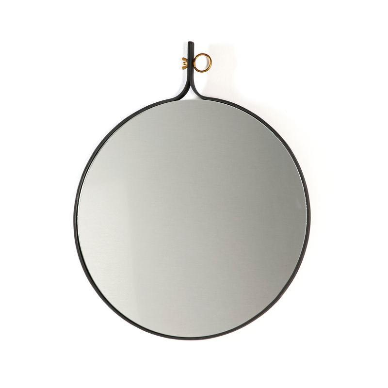 Espejo 61X3X75 Cristal Metal Dorado Negro