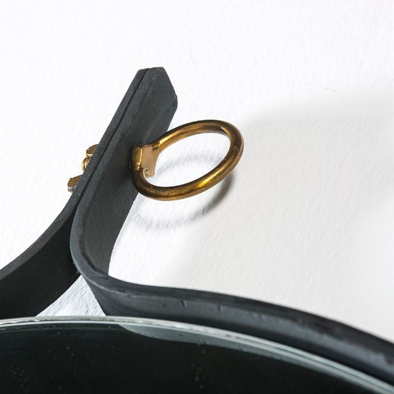 Miroir 61x3x75 Verre Métal Doré Noir - image 51531