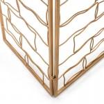 Folding Screen 153X2X183 Metal Golden
