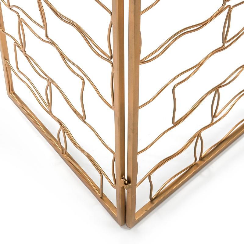 Bildschirm 153X2X183 Metall Golden - image 51533