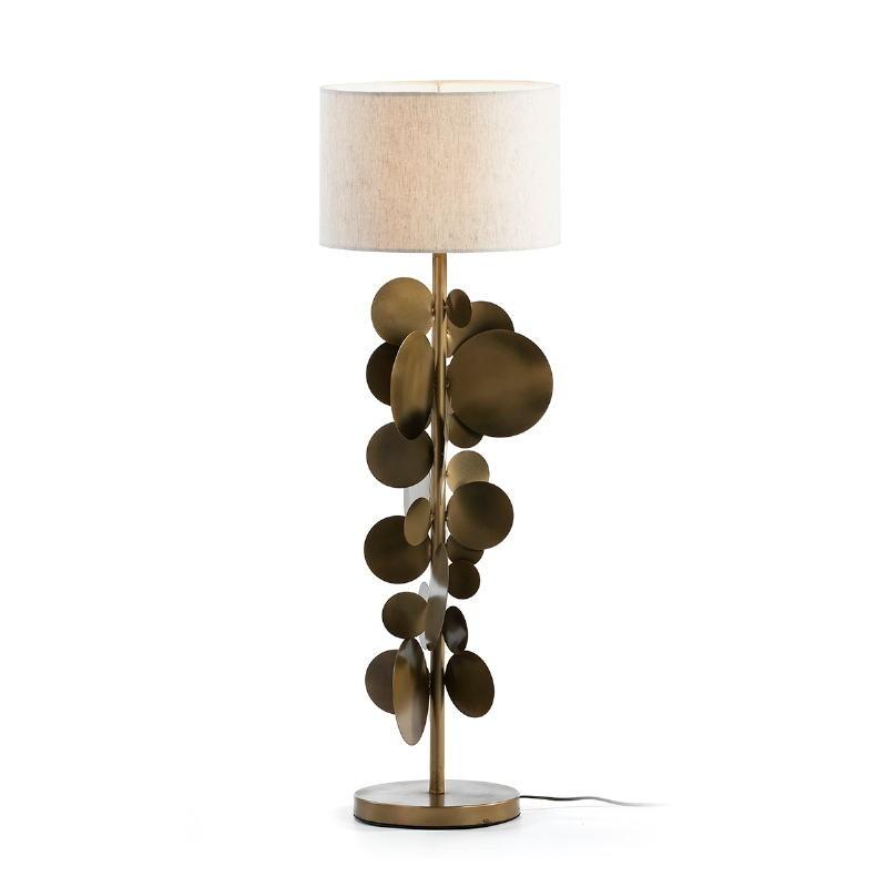 Lampada Da Tavolo Con Paralume 30X30X71 Metallo Dorato - image 51534