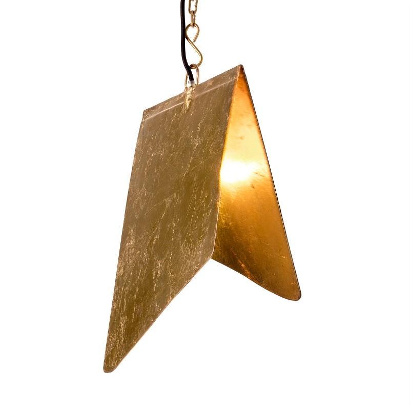 Lampe suspendue 40x35x15 Métal Doré - image 51574