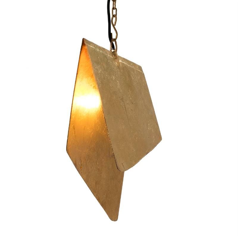 Lampada A Sospensione 40X35X15 Metallo Dorato - image 51575