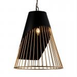 Lampe suspendue 52x52x69 Métal Doré Noir