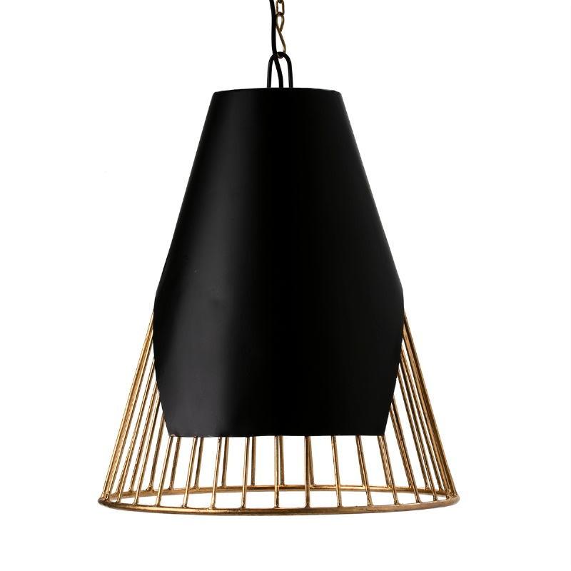 Lampe suspendue 52x52x69 Métal Doré Noir - image 51600