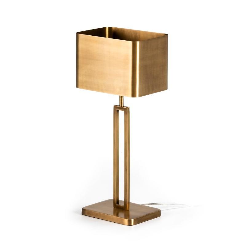 Lampe de Table avec abat-jour 24x15x55 Métal Doré
