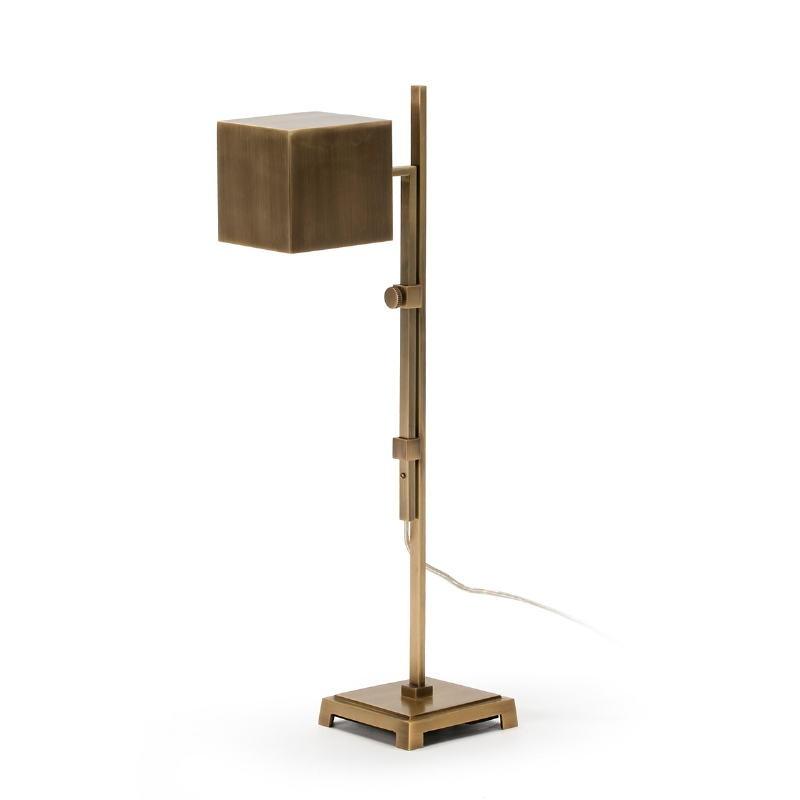 Lampada Da Tavolo 25X12X55 Metallo Dorato