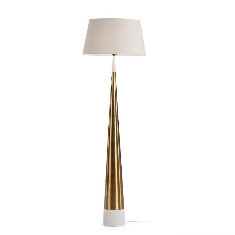 Lámpara De Pié Sin Pantalla 18X18X140 Metal Blanco Dorado