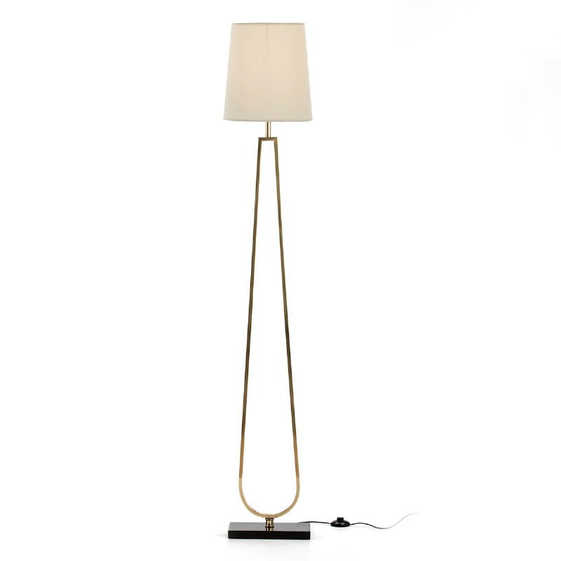 Standard Lamp Without Lampshade 28X16X151 Metal Golden Stone Black - image 51658