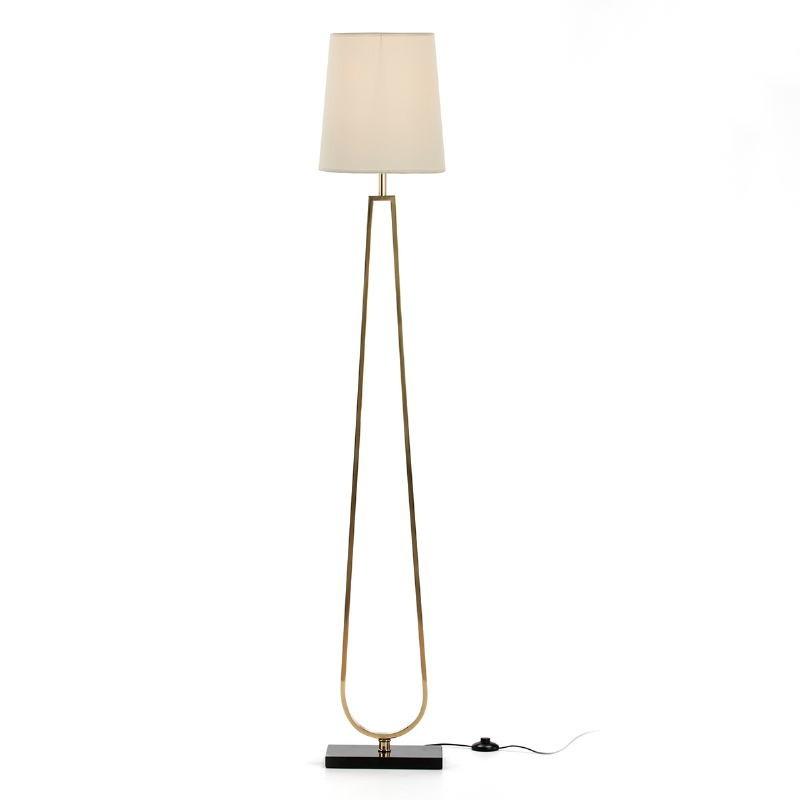 Stehlampe Ohne Schirm 28X16X151 Metall Golden/Stein Schwarz