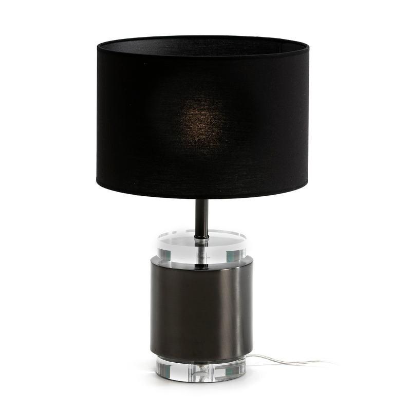 Lampe de Table sans abat-jour 14x14x33 Acrylique Métal Noir - image 51673