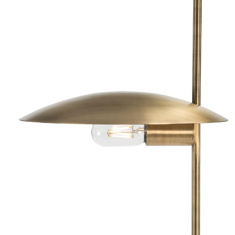 Lampada Da Tavolo 24X12X77 Marmo Bianco Metallo Dorato - image 51676
