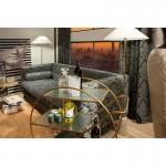 Stehlampe Ohne Schirm 14X14X140 Marmor Weiß/Metall Golden
