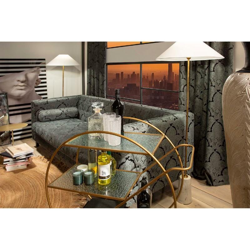 Stehlampe Ohne Schirm 14X14X140 Marmor Weiß/Metall Golden - image 51685