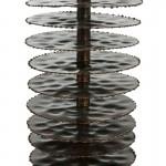 Lampe de Table sans abat-jour 10x10x54 Métal Brun
