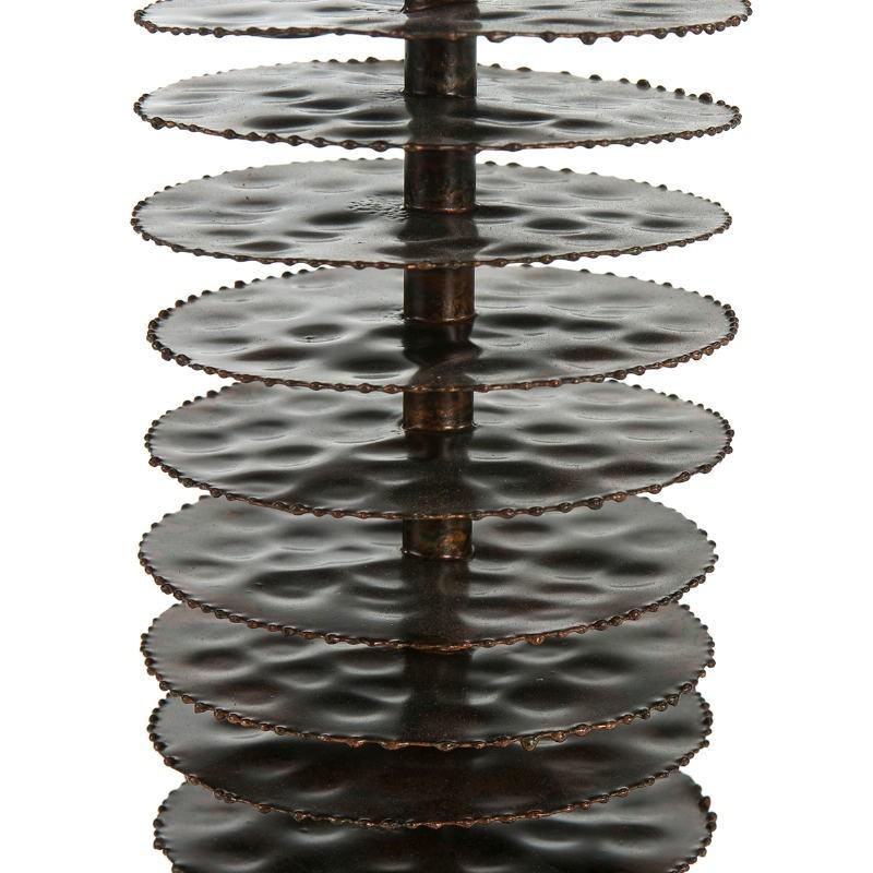 Lampada Da Tavolo Senza Paralume 10X10X54 Metallo Marrone - image 51689
