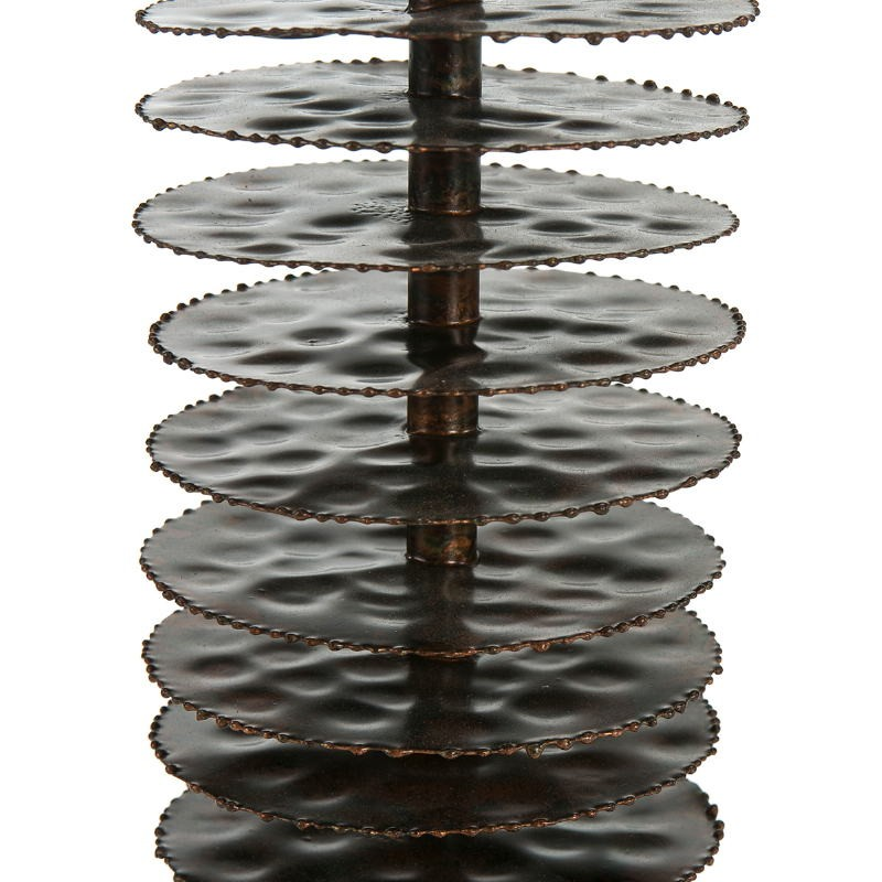 Lampe Auf Tisch Ohne Bildschirm 10X10X54 Metall Braun - image 51689