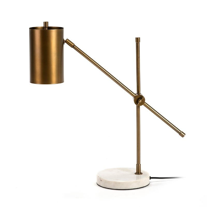 Table Lamp 66X16X75 Marble White Metal Golden - image 51691