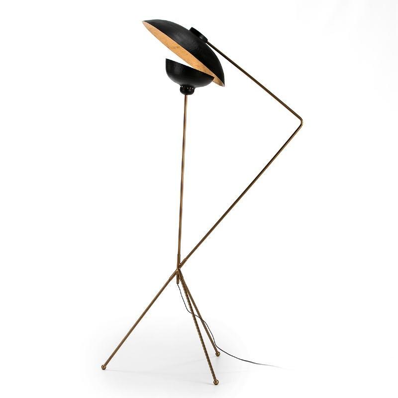 Standard Lamp 88X70X168 Metal Golden Black - image 51695