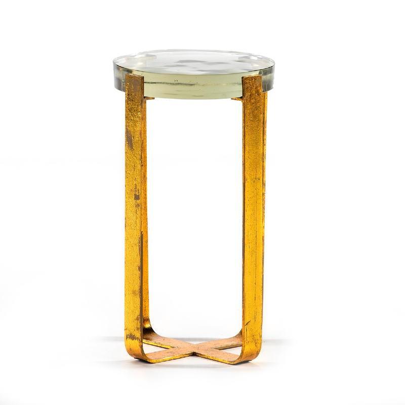 Hilfstisch 26X26X46 Glas/Metall Golden - image 51702