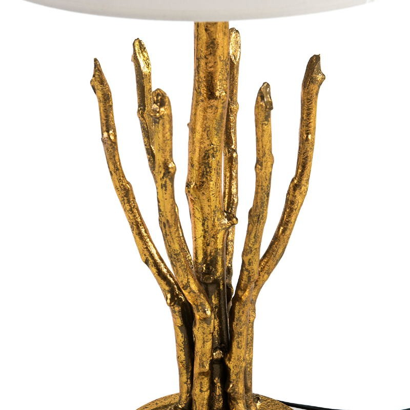 Table Lamp Without Lampshade 18X18X48 Metal Golden - image 51709