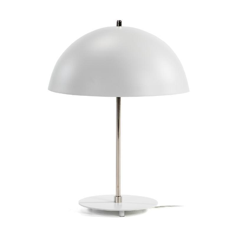 Tischlampe 43X43X56 Metall Weiß/Nickel