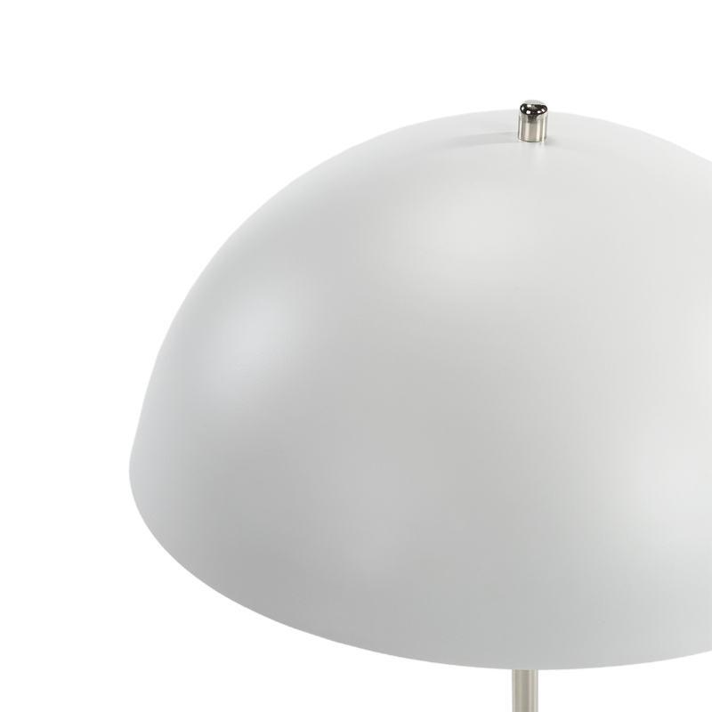 Lampe de Table 43x43x56 Métal Blanc Nickel - image 51716