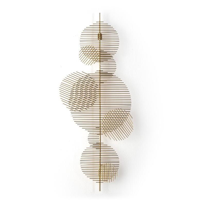 Sculpture 46X5X114 Metal Golden - image 51730