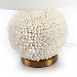 Lampe de Table sans abat-jour 25x16x33 Coquillages Blanc Métal Doré