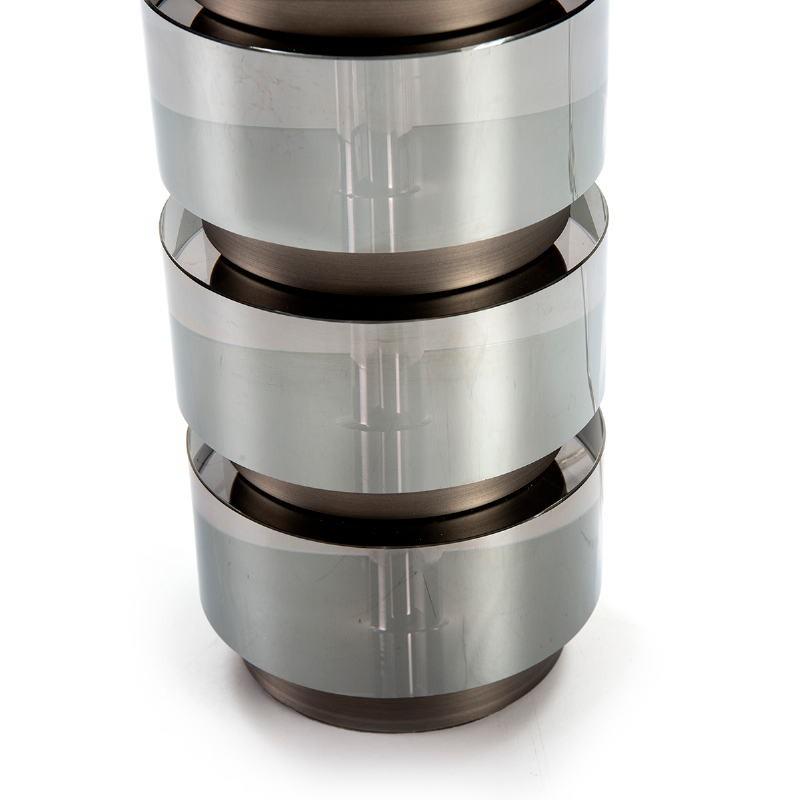 Lampe Auf Tisch Ohne Bildschirm 14X12X36 Methacrylat Geraucht/Metall Grau - image 51747