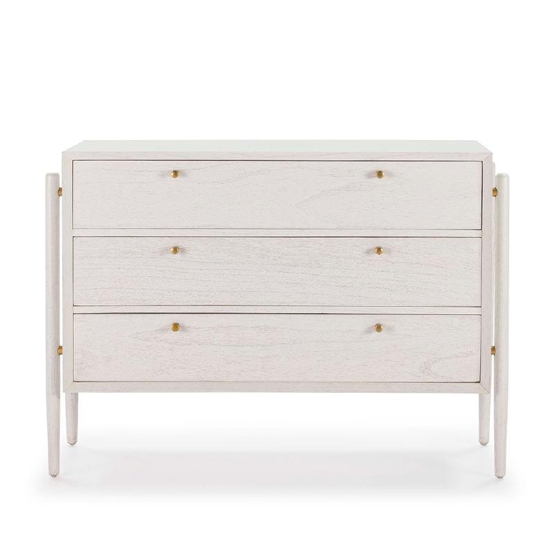 Commodes 3 tiroirs 125x45x90 Bois Blanc - image 51782