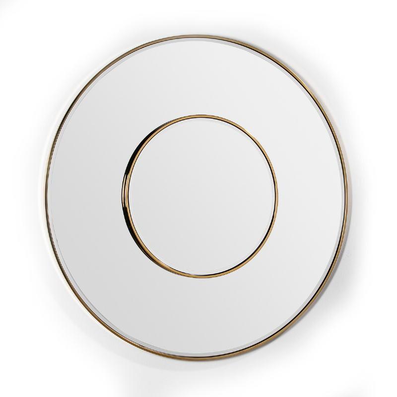 Mirror 120X4X120 Glass Metal Golden - image 51842