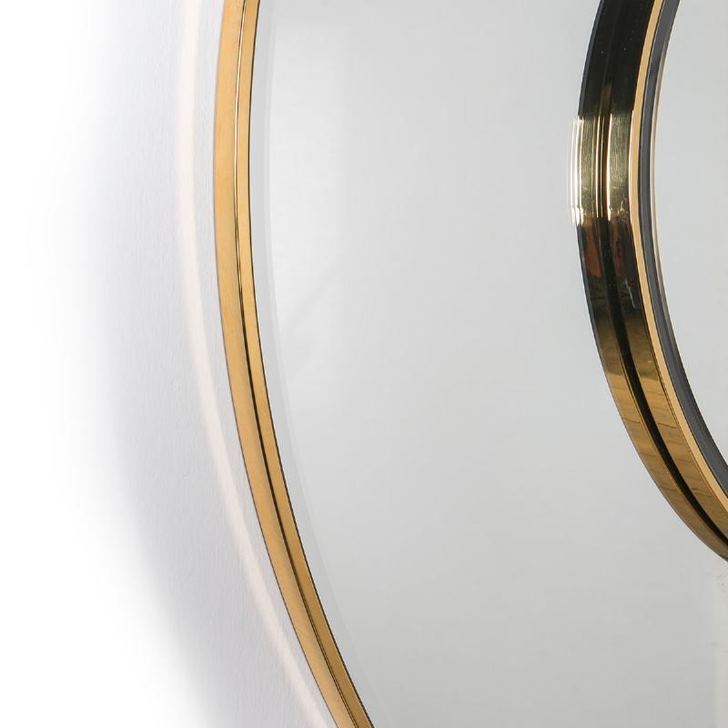 Miroir 120x4x120 Verre Métal Doré - image 51843