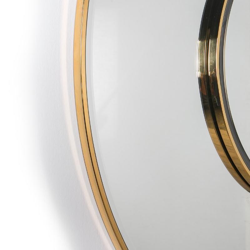 Mirror 120X4X120 Glass Metal Golden - image 51843