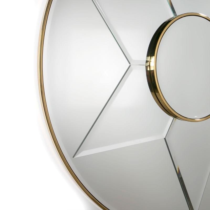 Mirror 120X4X120 Glass Metal Golden Model 2 - image 51845