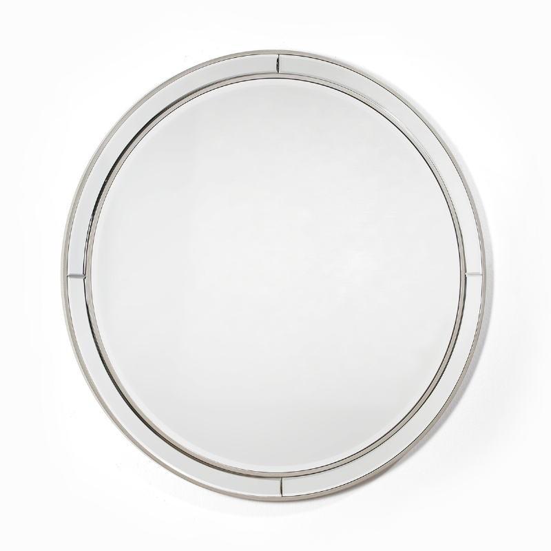 Miroir 90x4x90 Verre MDF Argent